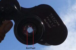 exit pupil in binoculars