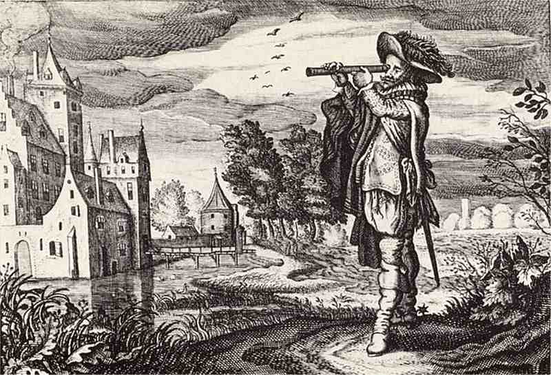 who invented binoculars
